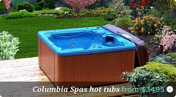 Portable hot tubs, Columbia Spas