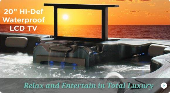 Hot Tubs with TV, Outdoor hot tubs