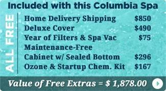 Columbia Spas Hot Tubs Free Items